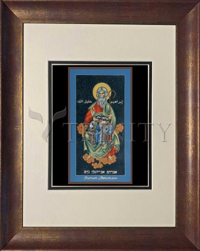 Wall Frame Double Mat Gold - Children of Abraham by R. Lentz