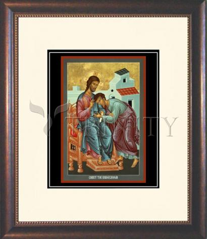 Wall Frame Double Mat Gold - Christ the Bridegroom by R. Lentz