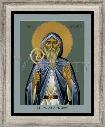 Wall Frame Silver Flat - St. Declan of Ardmore by R. Lentz