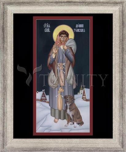 Wall Frame Silver Flat - St. Domna of Tomsk by R. Lentz