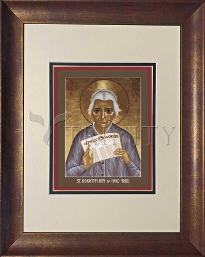 Wall Frame Double Mat Gold - Dorothy Day of New York by R. Lentz
