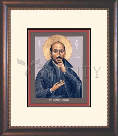Wall Frame Double Mat Gold - St. Ignatius Loyola by R. Lentz