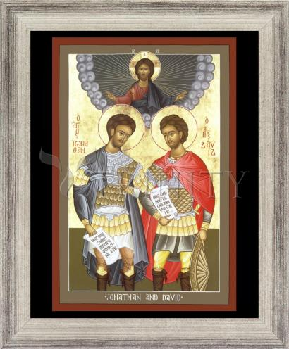 Wall Frame Silver Flat - Jonathan and David by R. Lentz
