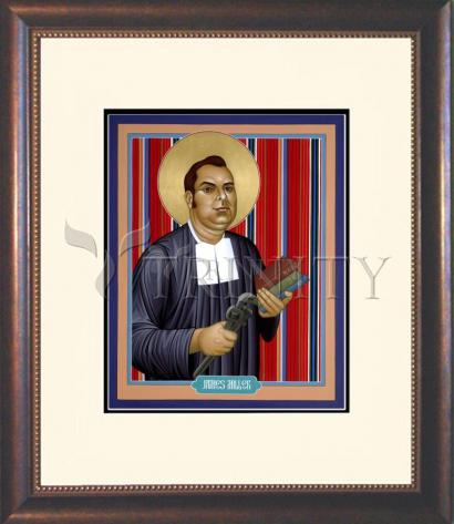 Wall Frame Double Mat Gold - Br. James A. Miller, F.S.C. by R. Lentz