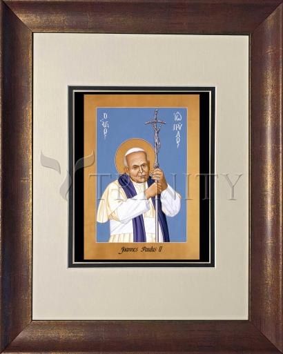 Wall Frame Double Mat Gold - St. John Paul II by R. Lentz