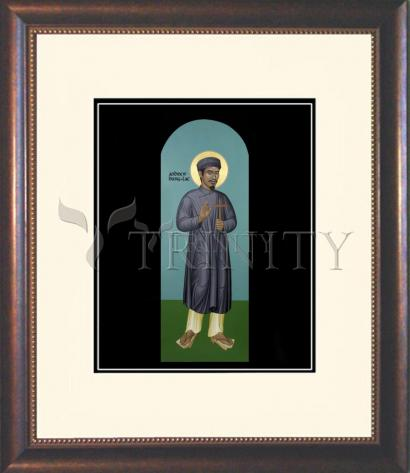 Wall Frame Double Mat Gold - St. Andrew Dung-Lac by R. Lentz