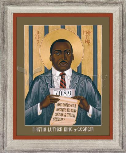 Wall Frame Silver Flat - Martin Luther King of Georgia by R. Lentz