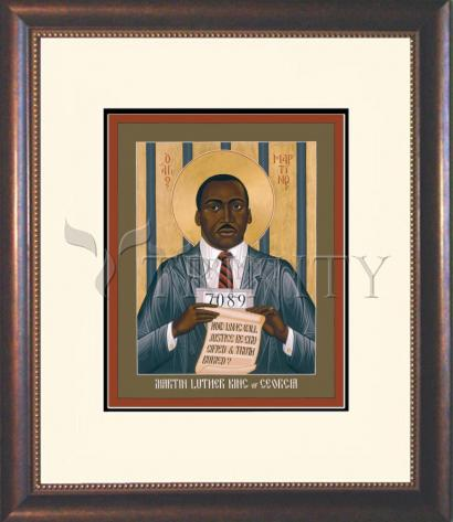 Wall Frame Double Mat Gold - Martin Luther King of Georgia by R. Lentz