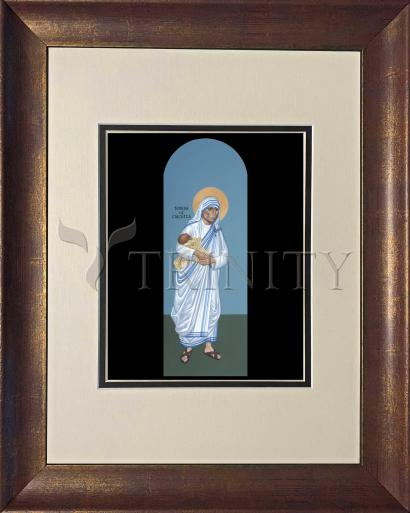 Wall Frame Double Mat Gold - St. Teresa of Calcutta by R. Lentz