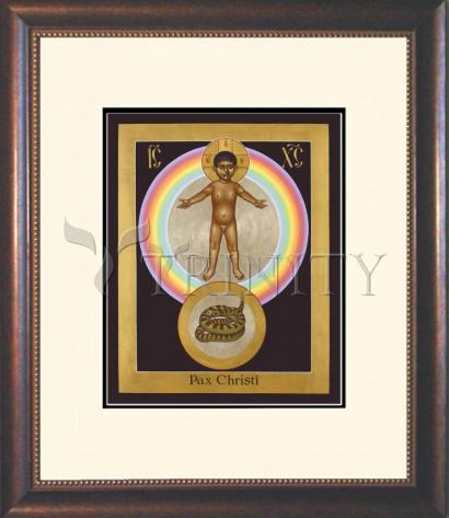 Wall Frame Double Mat Gold - Pax Christi by R. Lentz