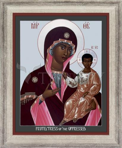 Wall Frame Silver Flat - Mother of God: Protectress of the Oppressed by R. Lentz