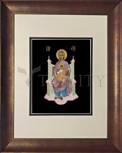 Wall Frame Double Mat Gold - Queen of Heaven by R. Lentz