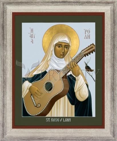 Wall Frame Silver Flat - St. Rose of Lima by R. Lentz