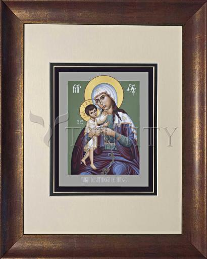 Wall Frame Double Mat Gold - Mary, Undoer of Knots - Spanish by R. Lentz