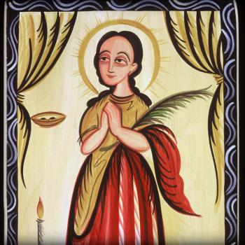 St. Lucy by Br. Arturo Olivas, OFS