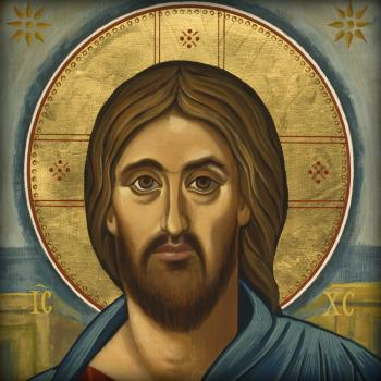 Christ Blessing by Joan Cole