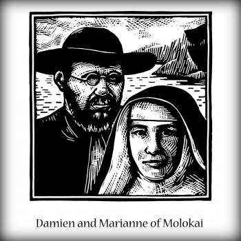 Sts. Damien and Marianne of Molokai by Julie Lonneman