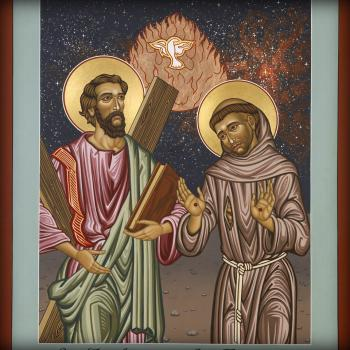 Sts. Andrew and Francis of Assisi by Lewis Williams, OFS
