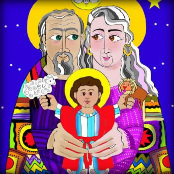 Sts. Ann and Joachim, Grandparents with Jesus by Br. Mickey McGrath, OSFS