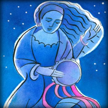 St. Miriam Dancing in Darkness by Br. Mickey McGrath, OSFS