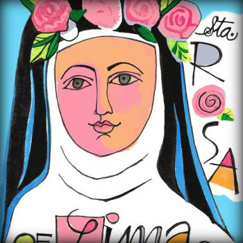 St. Rose of Lima by Br. Mickey McGrath, OSFS