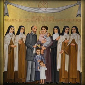 Sts. Louis and Zélie Martin with St. Thérèse of Lisieux and Siblings, by Paulo Orlando