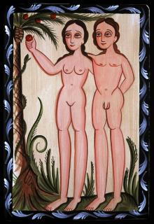 Adam and Eve by Br. Arturo Olivas, OFS