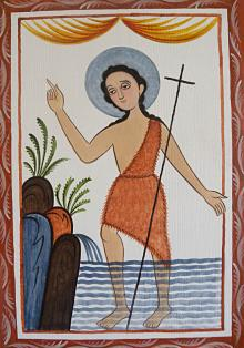 St. John the Baptist by Br. Arturo Olivas, OFS