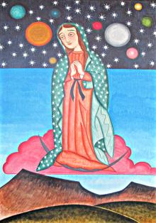 Our Lady of the Cosmos by Br. Arturo Olivas, OFS