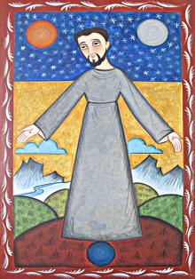 St. Francis of Assisi, Br. of Cosmos by Br. Arturo Olivas, OFS