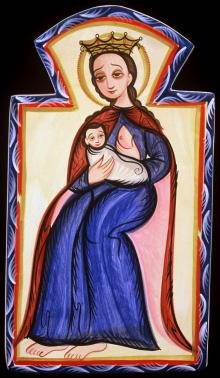 Our Lady of the Milk by Br. Arturo Olivas, OFS