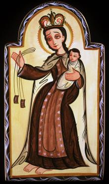 Our Lady of Mt. Carmel by Br. Arturo Olivas, OFS