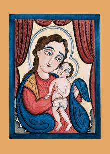 Our Lady, Refuge of Sinners with the Christ Child by Br. Arturo Olivas, OFS
