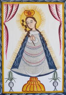 Virgin of the Macana by Br. Arturo Olivas, OFS