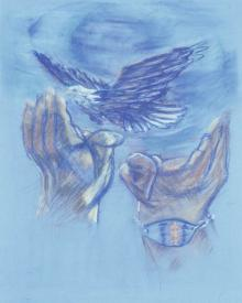 Eagle Flying in Freedom by Fr. Bob Gilroy, SJ