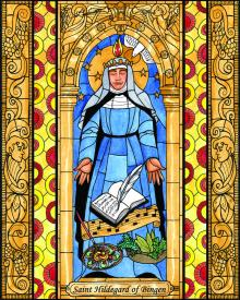 St. Hildegard of Bingen by Brenda Nippert