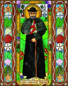 St. Damien of Molokai by B. Nippert