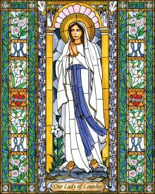 Our Lady of Lourdes by Brenda Nippert