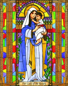 Our Lady of the Rosary by Brenda Nippert