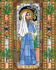 Mary, Mother of God by Brenda Nippert