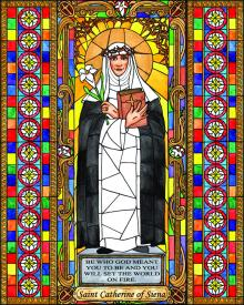 St. Catherine of Siena by Brenda Nippert