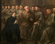 St. Bonaventure Receiving Habit from St. Francis - Museum Religious Art Classics