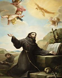 St. Francis of Assisi Receiving Stigmata - Museum Religious Art Classics