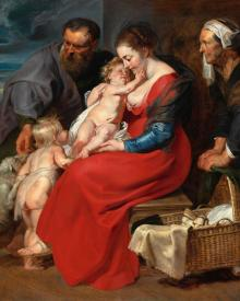 Holy Family with Sts. Elizabeth and John the Baptist - Museum Religious Art Classics