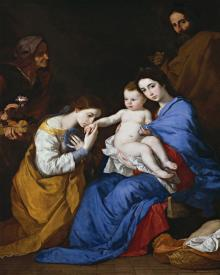 Holy Family with Sts. Anne and Catherine of Alexandria - Museum Religious Art Classics