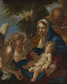 Holy Family with Angels - Museum Religious Art Classics