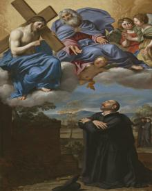 St. Ignatius of Loyola's Vision of Christ and God the Father at La Storta - Museum Religious Art Classics