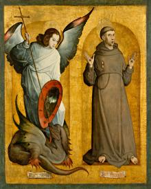 Sts. Michael Archangel and Francis of Assisi - Museum Religious Art Classics