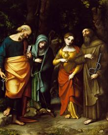Sts. Peter, Martha, Mary Magdalen, and Leonard - Museum Religious Art Classics