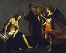 St. Agatha Attended by St. Peter and Angel in Prison - Museum Religious Art Classics